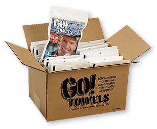 Go! Towel Box - 20 pouches